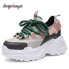 high top casual women casual shoes ladies walking shoes women platform shoes lace-up chaussures femme bambos mujer