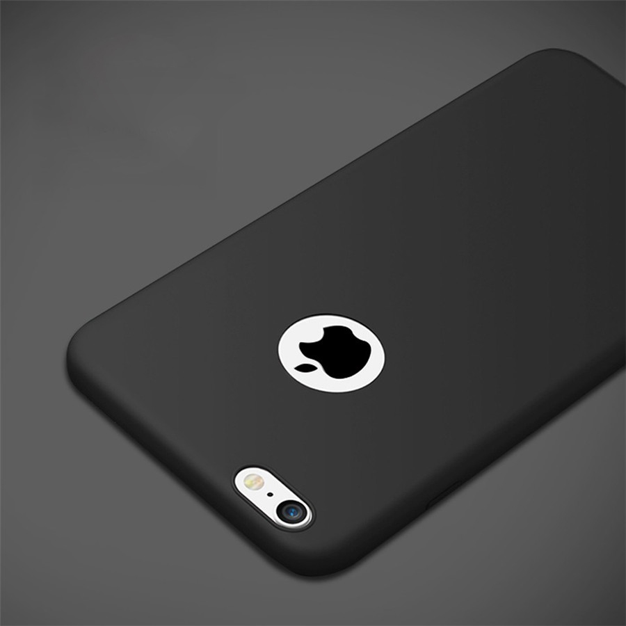 the latest 9c49e 9874e US $0.85 5% OFF|Luxury Matte Skin Case Fundas for iPhone 7 6S X Rubber Soft  Back Cover for iPhone 7 6 6S Plus 5 5S SE Soft Silicone Case Capas-in ...