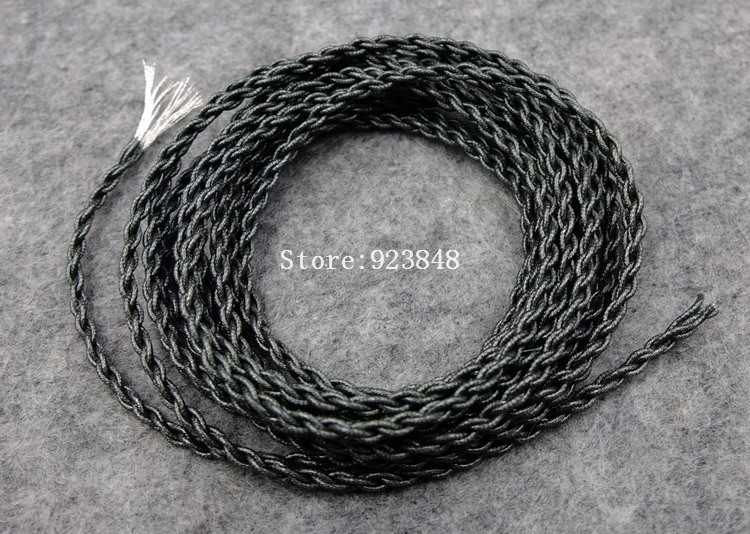 diy upgrade silver plated single crystal copper Twisted headphone cable UE Audio For the record wire