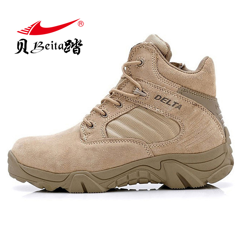 Beita outdoor shoes men's tactical boots for climbing  desert breathable lightweight mountain Army Ankle boots hiking shoes men s outdoor hunting hiking mountain non slip lace up mesh breathable ankle high boots tactical army desert sport shoes boot
