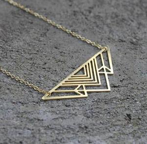 2018 Trendy Art Deco Triangle Necklace Mountain Charm Geometric Necklaces Women Jewelry Dropship Accepted YP6020(China)