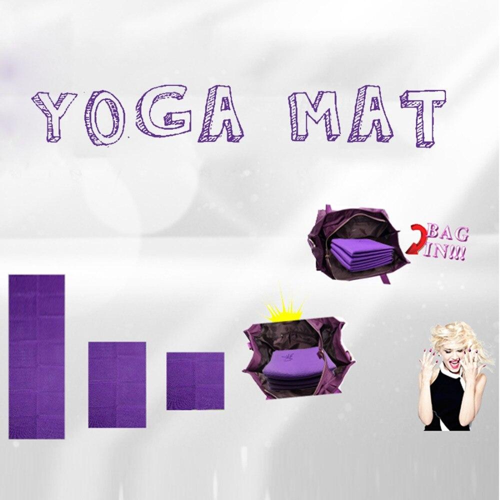 Podróżna mata do jogi Mata do ćwiczeń gruba 4 mm Eco TPE Mata do - Fitness i kulturystyka - Zdjęcie 6