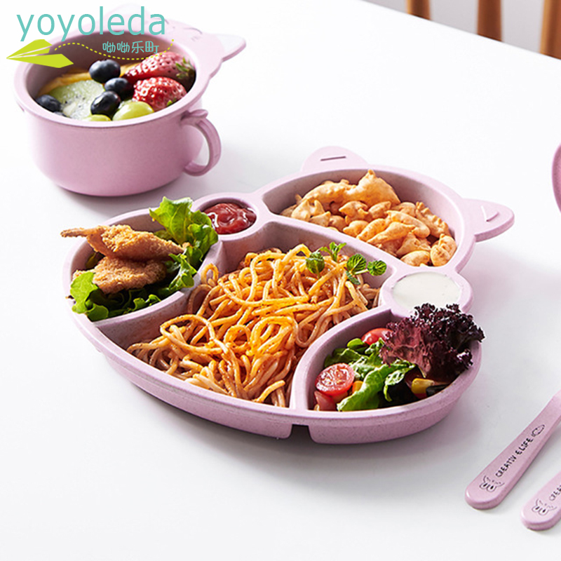 3Pcs/Set Baby Booster Seats Dinnerware Set Children Feeding Thing Food Plate Baby Tableware Dinner Chair Ancillary Supplies