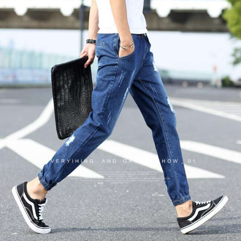 #2805 2016 summer style Ripped jeans men Fashion Casual Mens jogger jeans Hip hop baggy jeans Denim biker jeans