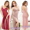 Women's Sexy Lingerie long dress Sleepwear Underwear Night fire Dress+G-string