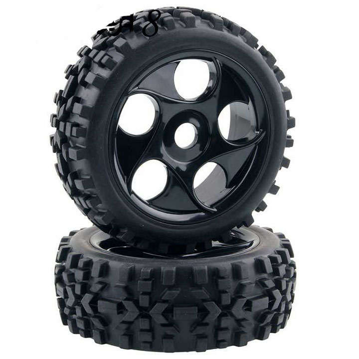 RC 1/8 Scale Off Road Car Buggy RC Tires Tyre and Wheels Black 4PCS 4pcs set rubber tyre tires