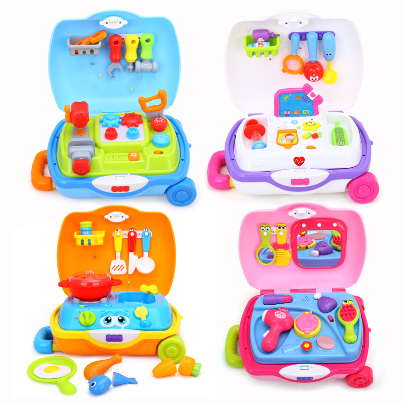 Tool Set / Doctor Suitcase / Little Chef Suitcase /Princess Suitcase Children Pretend Toys with Music/Light