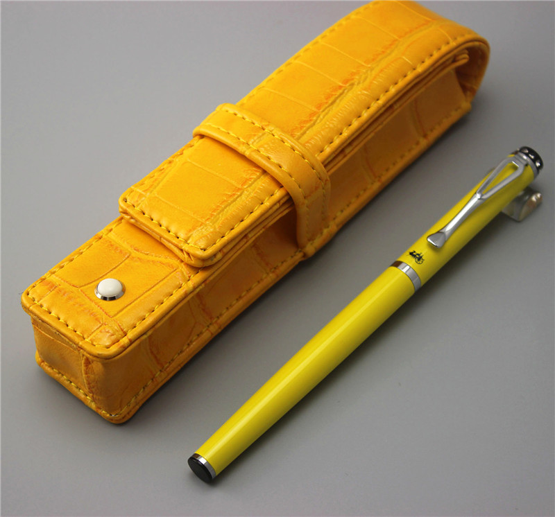 yellow JINHAO free shipping fountain pen and bag High quality man women pens business school gift send teacher student 001 jinhao fountain pen unique design high quality dragon pens luxury business gift school office supplies send father friend 008