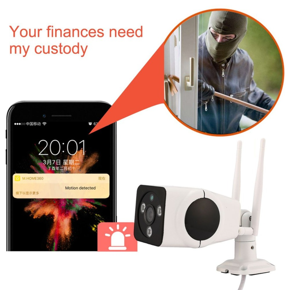PTZ Net IP Camera Motion Detection Alarm TF Storage Home Security Monitor for iOS for Android Plug And Play Waterproof IP66