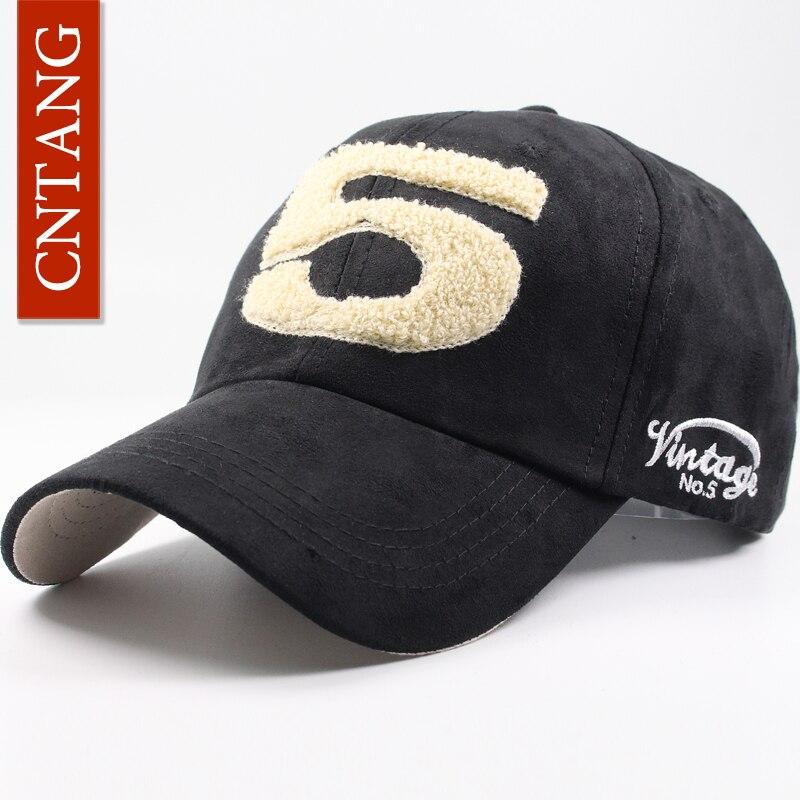 CNTANG Men Women Suede Baseball Cap Snapback Street Hip Hop Hat Winter Autumn Fashion Vintage Caps