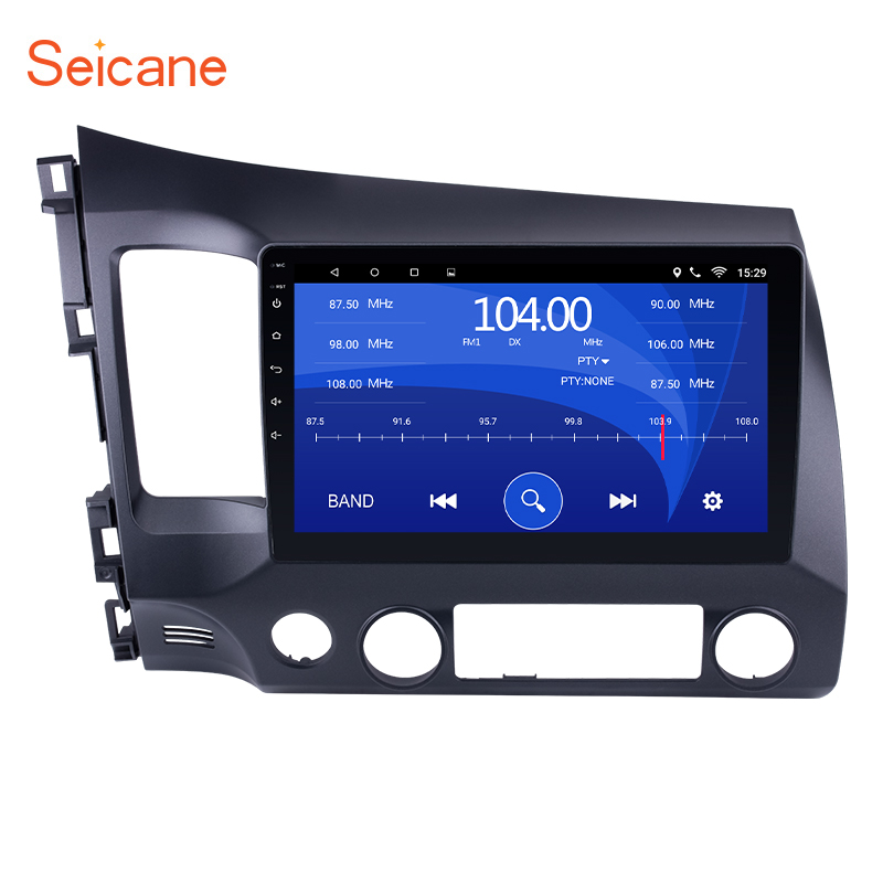 Seicane 10.1 inch HD 1024*600 Android 6.0 Car GPS Navigation Radio Multimedia Player for 2006 2011 Honda Civic with Bluetooth