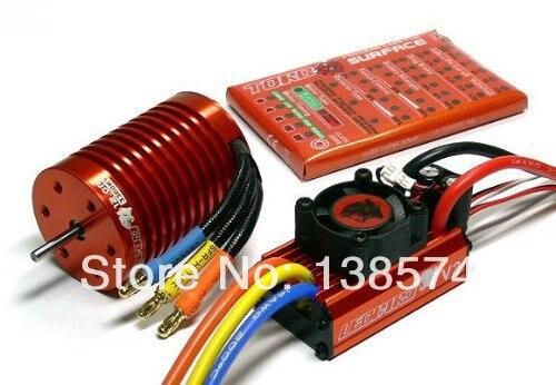 Livraison gratuite véritable léopard SKYRC 1/10 3300KV 12 T moteur Brushless & 60A ESC régulateur de vitesse Combo avec carte de programme