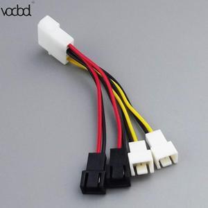 Image 5 - 1 pcs/lot ordinateur ventilateur de refroidissement câbles dalimentation 4Pin Molex à 3Pin ventilateur câble dalimentation adaptateur connecteur 12 v * 2/5 v * 2 pour CPU PC boîtier ventilateur