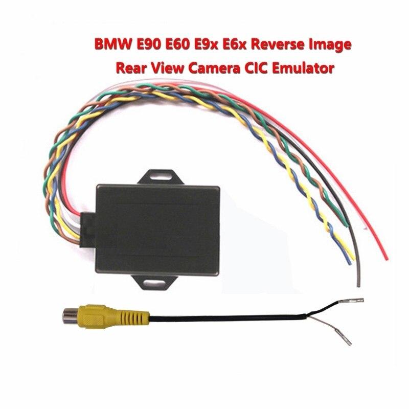 Pour bmw cic Nouvelle image inversée Émulateur/Arrière Vue Caméra activateur Pour E90 E60 E9X E6X CIC Avec PDC NOUVELLE VERSION