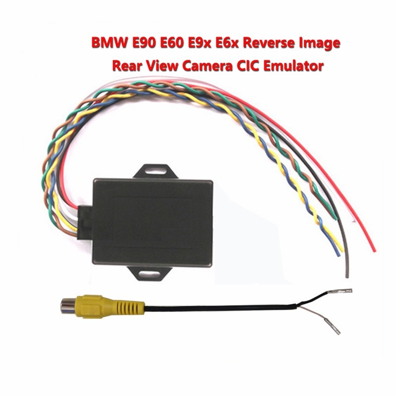 for bmw cic New reverse image Emulator / Rear View Camera Activator For E90 E60 E9X E6X CIC With PDC NEWEST VERSION
