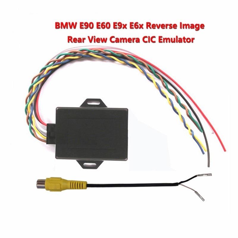 for bmw cic New reverse image Emulator / Rear View Camera Activator For E90 E60 E9X E6X CIC With PDC NEWEST VERSION