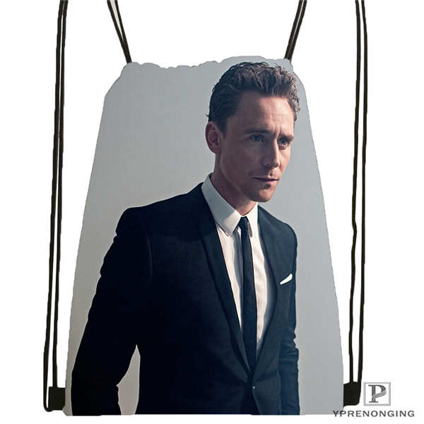 Custom Tom_Hiddleston_Cannes @01-Drawstring Backpack Bag Cute Daypack Kids Satchel (Black Back) 31x40cm#180611-01-36