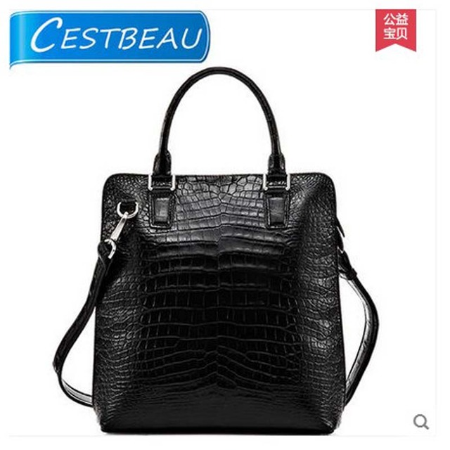 Cestbeau Crocodile Belly Man Handbag Business Card With The Male High End Area Vertical Type Square