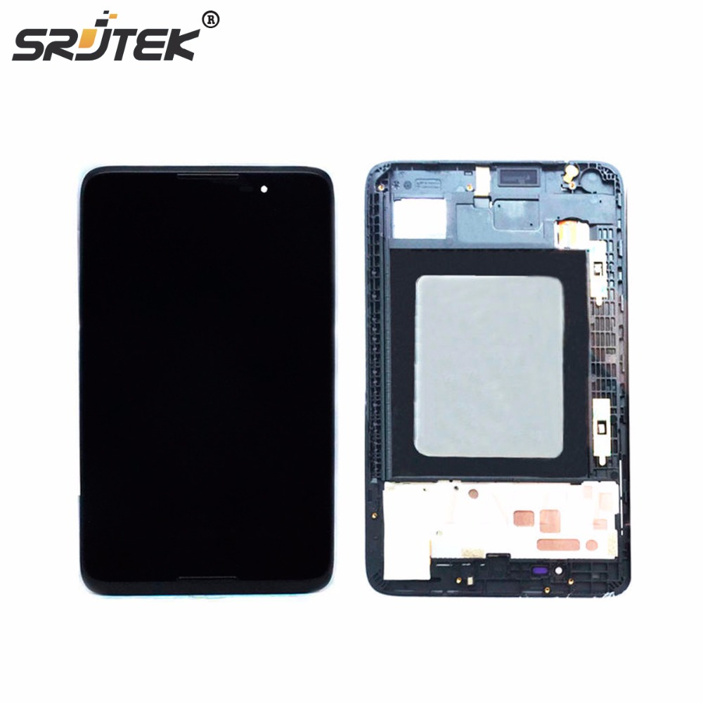 Srjtrk NEW 7 inch LCD Display + Touch Screen Panel With Frame For Lenovo A7-50 A3500 Repair Replacement Assembly