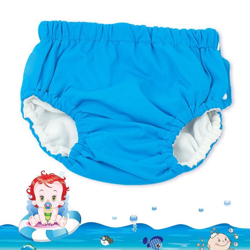 Baby Swim Nappy Diaper Cover Waterproof Swimwear Cloth Nappies Swimming Trunks Pool Pants Infant Toddler Kids Boys Girls Panties(China)