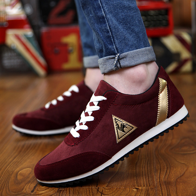 plus size 39 to 45 2018 new men running shoes Canvas flat French Brand Cock Walking suede chaussure homme man sneakers summer ...