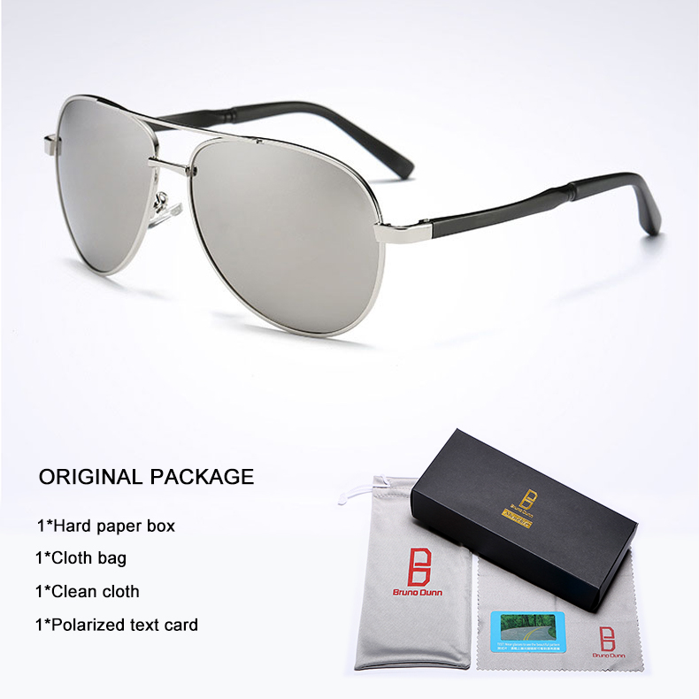 Bruno Dunn 2020 Aviation Men Sunglasses Polarized Sun Glases oculos de sol masculino aviador UV400 high quality  Sunglases 19