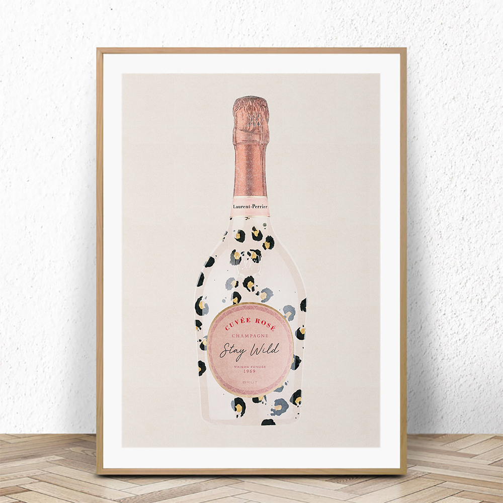 260gsm Laurent-Perrier rose painting Poster