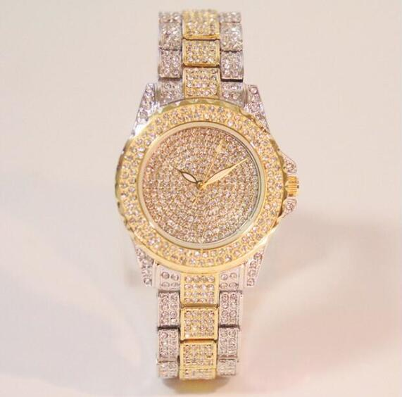 Hot Sales! Luksus Crystal Women Watches! Kvindelig Diamond Kjole Se - Dameure - Foto 2