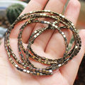 Wholesale Natural 3mm Pyrite Triangle Beads 140pcs per strand,For DIY Jewelry Making !We provide mixed wholesale for all items!