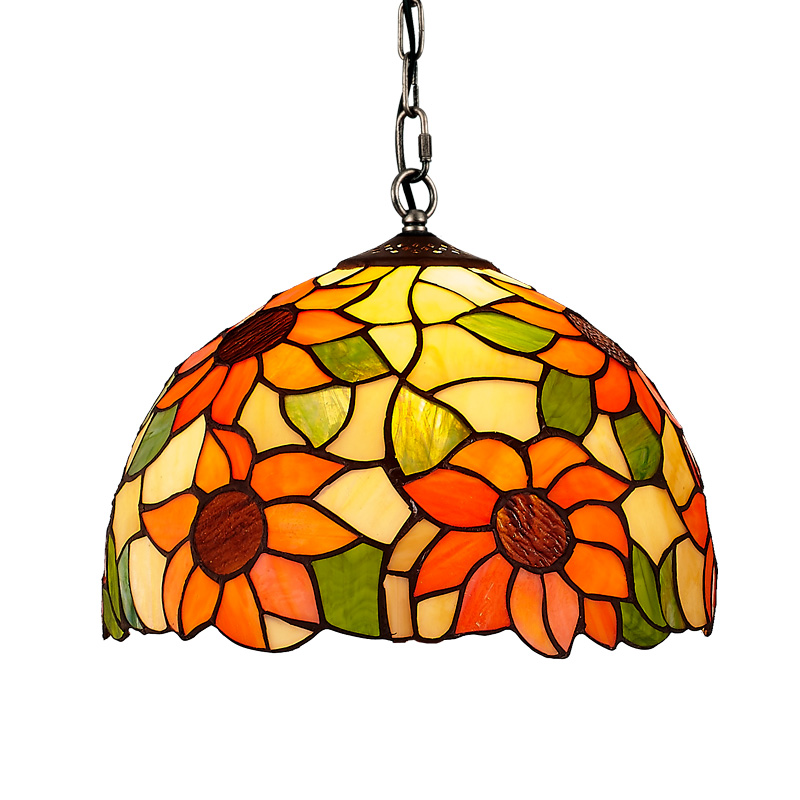 Bohemia Colorful dragonfly Dining Room Pendant Light Bar Counter Hanging Lamp Restaurant Hallway Sunflower lighting Fixture led oblong crystal tube dining room pendant lights restaurant bar counter pendant light balcony hallway hanging fixtures
