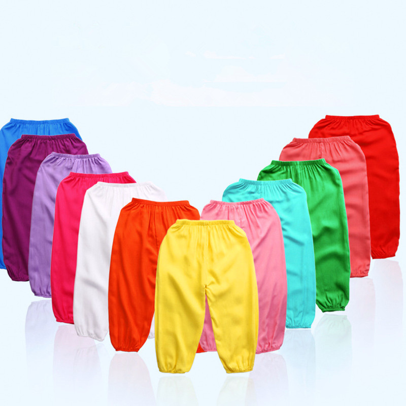 2-8 Years Old Summer Child Loose and Comfortable Pants Candy Color Mosquito Pants Boy and Girl Summer Pants