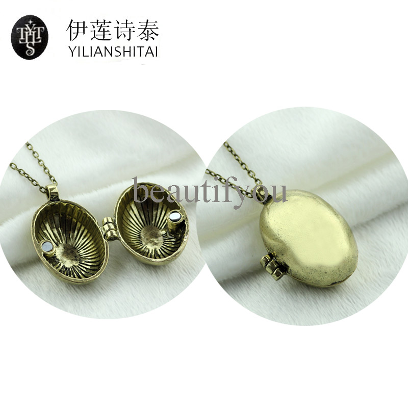 Fantastic Beasts And Where To Find Them Dinosaur Eggs Can Open Pendent Necklace Magic Jewelry Can Hold Children Movie Jewelry