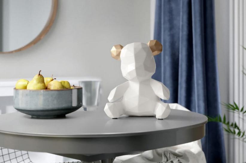 Style nordique résine artisanat maison ornements dessin animé ours tirelire Figurines Miniature ours tirelire étude décoration GiftsLFB657 - 4