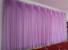 10ft*20ft voilet wedding backdrop with colorful swags wedding decoration