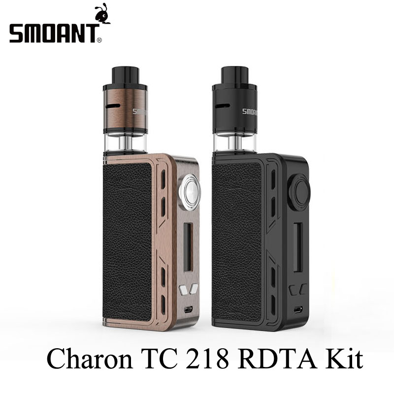 Electronic Cigarette Kits Smoant Charon TC 218 RDTA Kit Vaporizer Vape Box Mod E Cigarette Hookah With Battlestar RDTA X2077 original electronic cigarette smoant charon ts 218 box mod 510 thread 18650 battery 218w vape mod electronic cigarette vaporzier