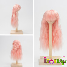 цена на 8-9inch BJD Doll Hair Wigs Long Curly High-temperature Synthetic Fiber Wigs for 1/3 1/4 BJD Dolls