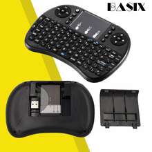 цена на New 2.4G Mini USB Wireless  Keyboard Touchpad & Air Fly Mouse Remote Control for Android Windows TV Box Smart Phone