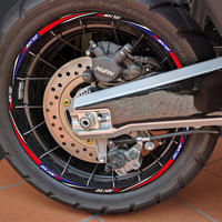 KODASKIN 2D Printing Wheel Rim Emblem Sticker Decal for HONDA X ADV750 XADV750