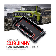 купить Car Central Armrest Storage Box Container Holder Tray Car Dashboard box navigation for Suzuki Jimny 2019 Auto accessories дешево