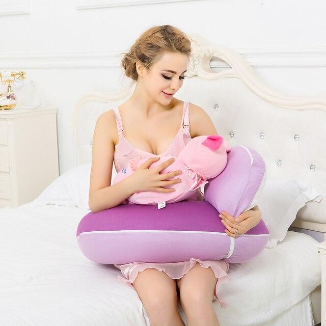 Free shipping On Sale 100% Cotton Baby Nursing Pillow For Breastfeeding Use Baby Cotton Pillow Cojin De Lactancia 2Pcs one Set