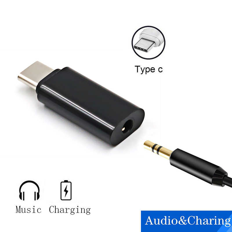 שרי סוג-C נקבה כדי 3.5mm שקע אוזניות אוזניות רמקול אוזניות מתאם אודיו ספליטר עבור Samsung S9 Xiaomi huawei Google