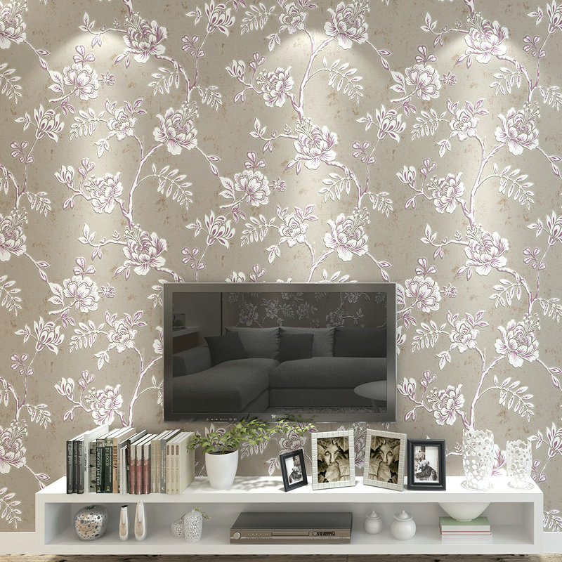 0.53x10 Meter Modern Pastoral Living Room Bedroom 3d  Non Woven Wallpaper kids room shop TV Background Wallpaper book knowledge power channel creative 3d large mural wallpaper 3d bedroom living room tv backdrop painting wallpaper