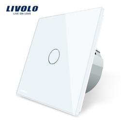 Livolo luxus Wand Touch Sensor Schalter, EU Standard Licht Schalter, schalter power, Kristall Glas, 1 Gang 1Way Schalter, 220-250, C701-1/2/5