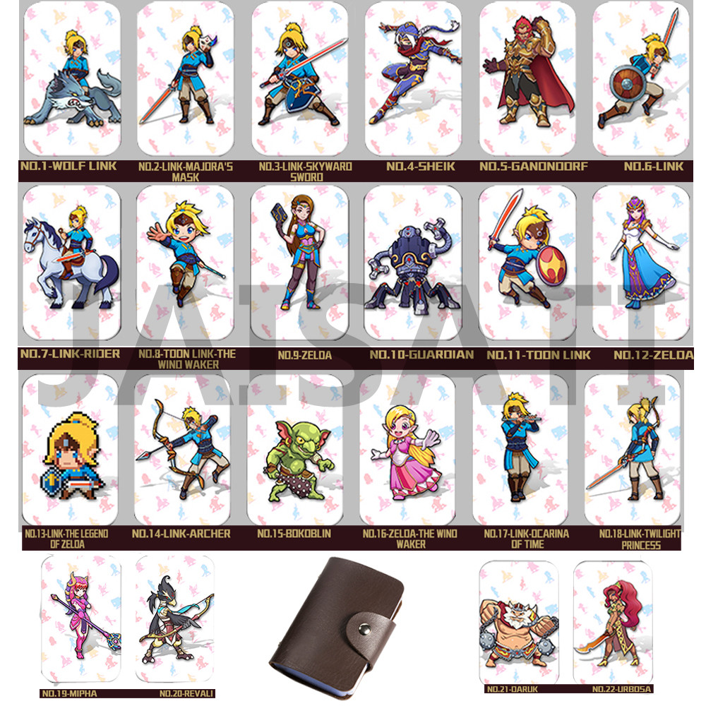 22PCS NTAG215 Game NFC Cards New 4 Hero Data Tag 20 heart Wolf Link For NFC Tag Zelda Breath Of The wild NS Switch l a girl matte flat velvet lipstick giggle матовая помада