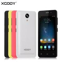 XGODY G12 3กรัม4.5นิ้วมาร์ทโฟนQuad Core MTK6580 1กิกะไบต์RAM 8กิกะไบต์รอม5.0MP GPS WiFi Dual SIMปลดล็อคโทรศัพท์มือถือโทรศัพท
