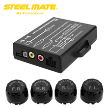 Steelmate TP-05E DIY TPMS for In-dash A/V Monitor Exterior Sensor Automotive Tire Strain Monitor System Video Output to Monitor GPS