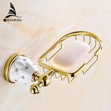 Новый Золотой отделка латунь Мыло корзина/мыльница/мыльница/аксессуары для ванной комнаты, мебель для ванной комнаты, туалет суета 5206
