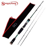 Sougayilang 1.2m Carbon Fiber Fishing Rod with 2 Titanium Alloy Tips Soft Raft Rod Boat Fishing Rod Casting Rod Pole