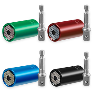 Image 5 - Vastar Universal Torque Wrench Head Set Socket Sleeve 7 19mm Power Drill Ratchet Bushing Spanner Key Magic Grip Multi Hand Tools