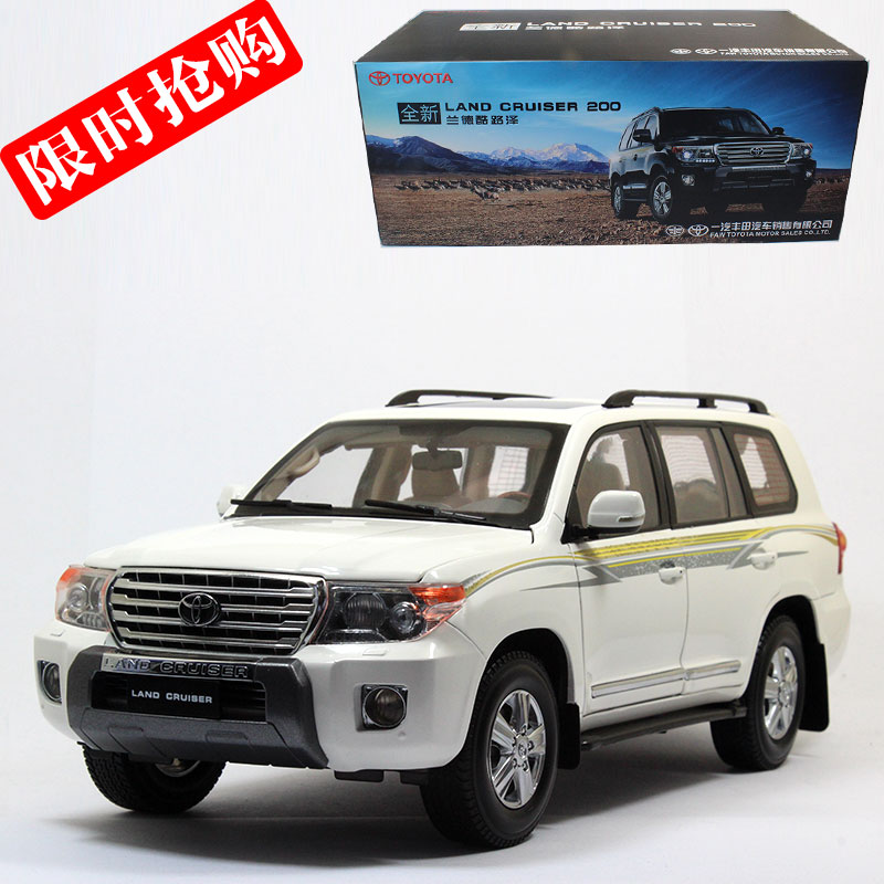 Brand New 1/18 Scale Car Model Toys Japan TOYOTA LAND CRUISER 200 SUV Diecast Metal Car Model Toy For Collection/Gift les enfants pj racing mission cruiser car dessin maskmm toy anime pj car big truck display jouet children bithday gift toys